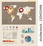 modern map and infographics ... | Shutterstock .eps vector #120452446