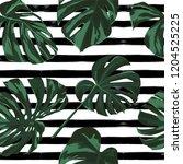 tropical print. jungle seamless ... | Shutterstock .eps vector #1204525225