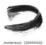 texture of black mascara for... | Shutterstock . vector #1204534102