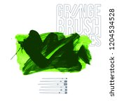 green brush stroke and texture. ...   Shutterstock .eps vector #1204534528