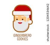 christmas concept cute... | Shutterstock .eps vector #1204534642