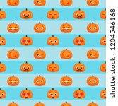 seamless pattern of funny... | Shutterstock . vector #1204546168