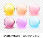 bright transparent sphere set.... | Shutterstock .eps vector #1204547512