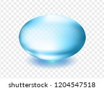 blue shiny capsule with mineral ... | Shutterstock .eps vector #1204547518