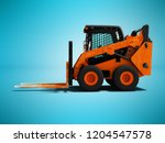 modern orange forklift loader... | Shutterstock . vector #1204547578