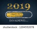 progress bar showing loading of ... | Shutterstock . vector #1204552078