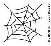 spider web thin line icon.... | Shutterstock .eps vector #1204552168