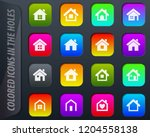houses colored icons in the... | Shutterstock .eps vector #1204558138