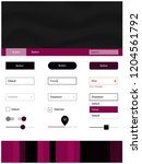 dark pink vector design ui kit...