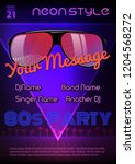 a4 neon style party flyer... | Shutterstock .eps vector #1204568272