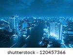 landscape bangkok city at... | Shutterstock . vector #120457366