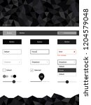 dark gray vector design ui kit...