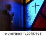 colorful christian church in...