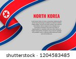 waving ribbon or banner with... | Shutterstock .eps vector #1204583485