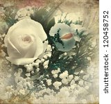 Vintage Style Of  Flower Picture For Background - stock photo