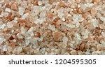pink himalayan salt rotating.... | Shutterstock . vector #1204595305