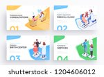 presentation slide templates or ... | Shutterstock .eps vector #1204606012