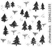seamless pattern with christmas ... | Shutterstock .eps vector #1204611355