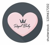 vector royal icon pink heart in ... | Shutterstock .eps vector #1204617202