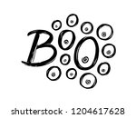 boo text. hand drawn lettering... | Shutterstock . vector #1204617628