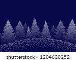 winter background landscape... | Shutterstock .eps vector #1204630252