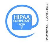 hipaa compliant sign  | Shutterstock . vector #1204631518