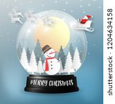merry christmas and happy new... | Shutterstock .eps vector #1204634158