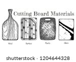 cutting board from various... | Shutterstock . vector #1204644328