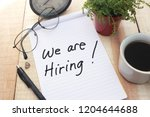 we are hiring  motivational...   Shutterstock . vector #1204644688