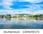 linz city centre and danube... | Shutterstock . vector #1204650172