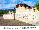 temple of the sacred tooth...   Shutterstock . vector #1204650262