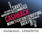 cashback word cloud collage ... | Shutterstock .eps vector #1204650742