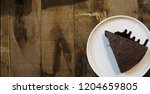 homemade chocolate brownies on... | Shutterstock . vector #1204659805
