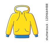 yellow hoodie sweatshirt... | Shutterstock .eps vector #1204664488