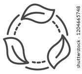 recycle leaf icon. outline...   Shutterstock .eps vector #1204665748
