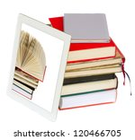 pile of books with modern... | Shutterstock . vector #120466705