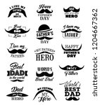 happy father day lettering... | Shutterstock .eps vector #1204667362