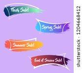 modern gradient brush sale...   Shutterstock .eps vector #1204668412