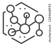 new molecule icon. outline new... | Shutterstock .eps vector #1204668955