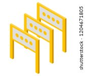 road barrier icon. isometric of ... | Shutterstock .eps vector #1204671805