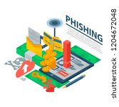 phishing attack concept... | Shutterstock .eps vector #1204672048