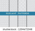8 different elegant classic... | Shutterstock .eps vector #1204672348