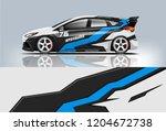 racing car wrap design. sedan... | Shutterstock .eps vector #1204672738