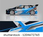 racing car wrap design. sedan... | Shutterstock .eps vector #1204672765