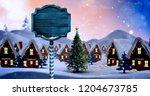 Digital Composite Of Christmas...