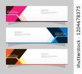 vector abstract banner design... | Shutterstock .eps vector #1204678375