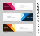 vector abstract banner design... | Shutterstock .eps vector #1204678738