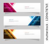 vector abstract banner design... | Shutterstock .eps vector #1204678765