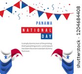 panama national day vector... | Shutterstock .eps vector #1204684408