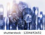 modern way of exchange. bitcoin ... | Shutterstock . vector #1204692652